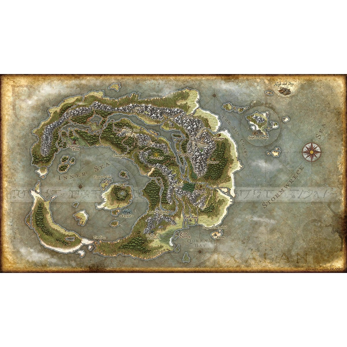 Ixalan Map Print - Print - Original Magic Art - Accessories for Magic the Gathering and other card games