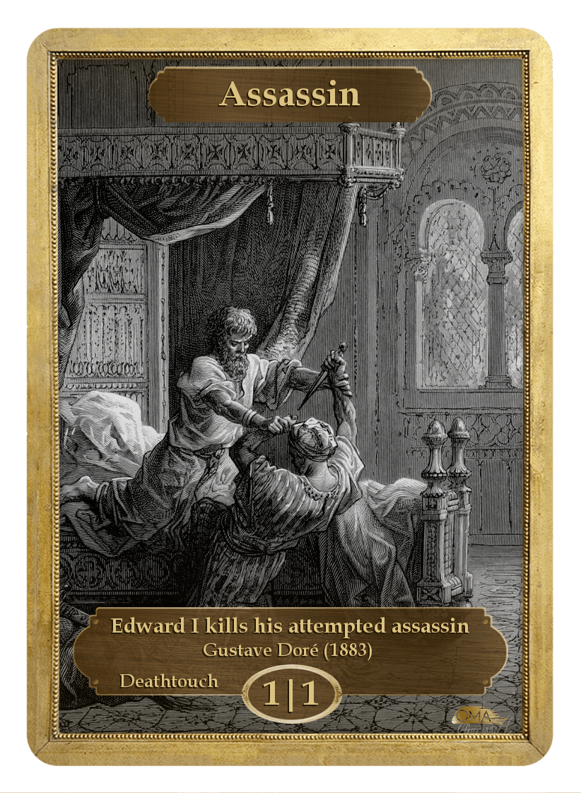Assassin Token (1/1 - Deathtouch) by Gustave Dore