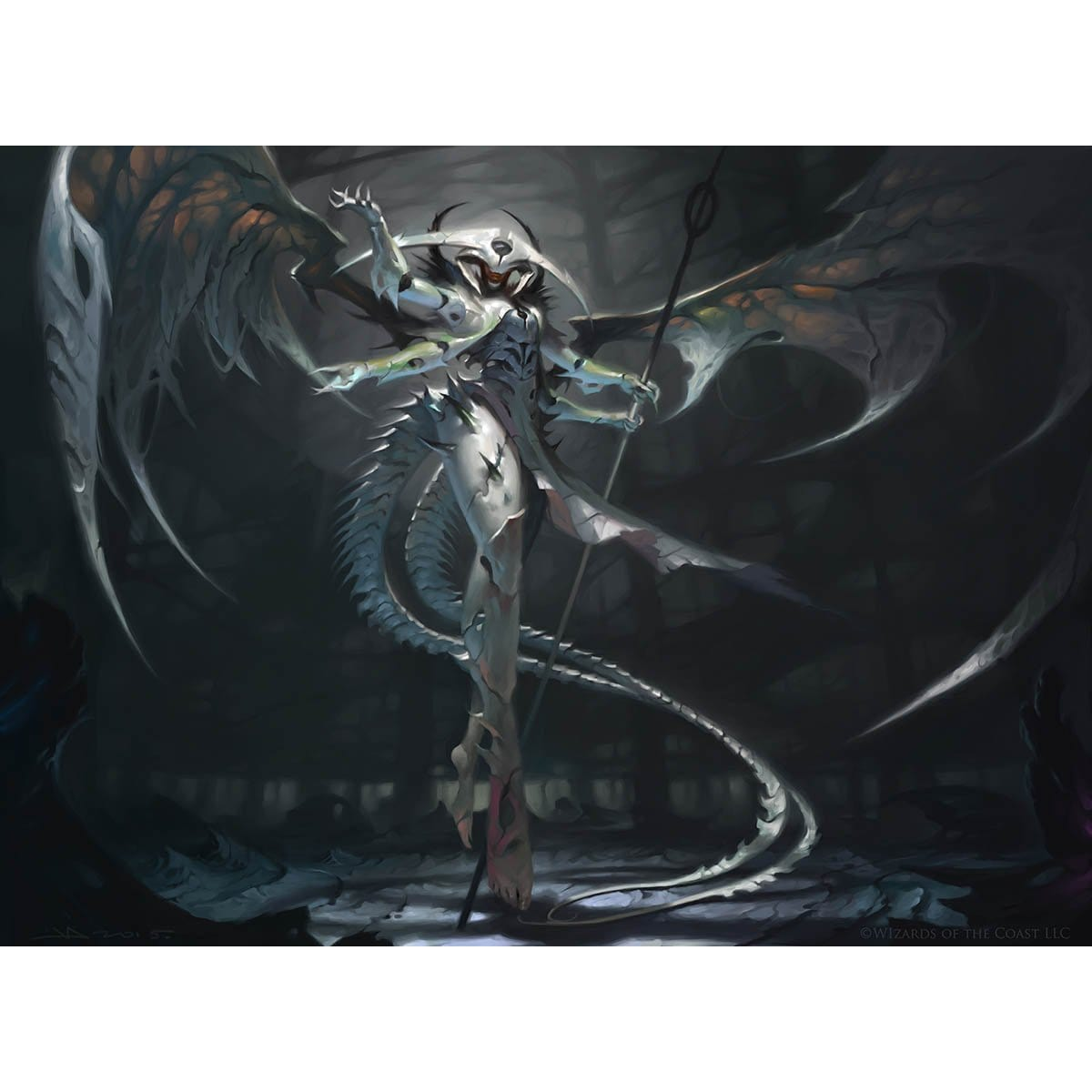 Atraxa, Praetor's Voice Print - Print - Original Magic Art - Accessories for Magic the Gathering and other card games
