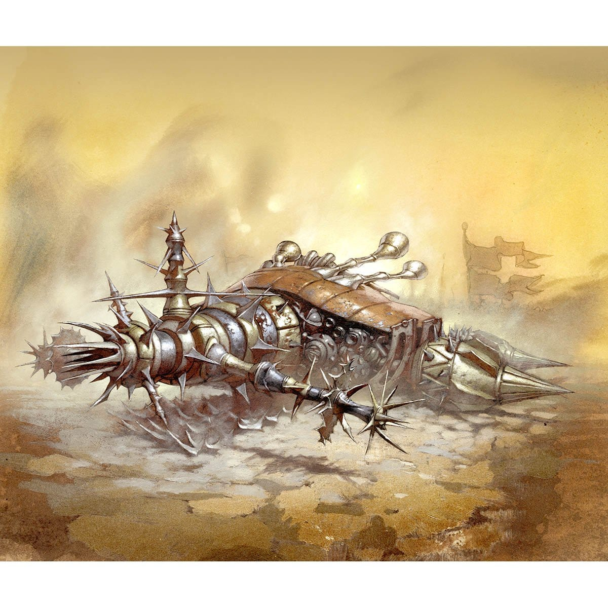 Auriok Siege Sled Print - Print - Original Magic Art - Accessories for Magic the Gathering and other card games