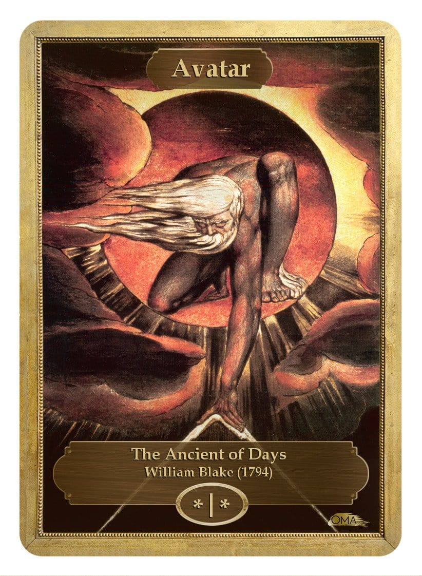 Avatar Token (*/*) by William Blake - Token - Original Magic Art - Accessories for Magic the Gathering and other card games
