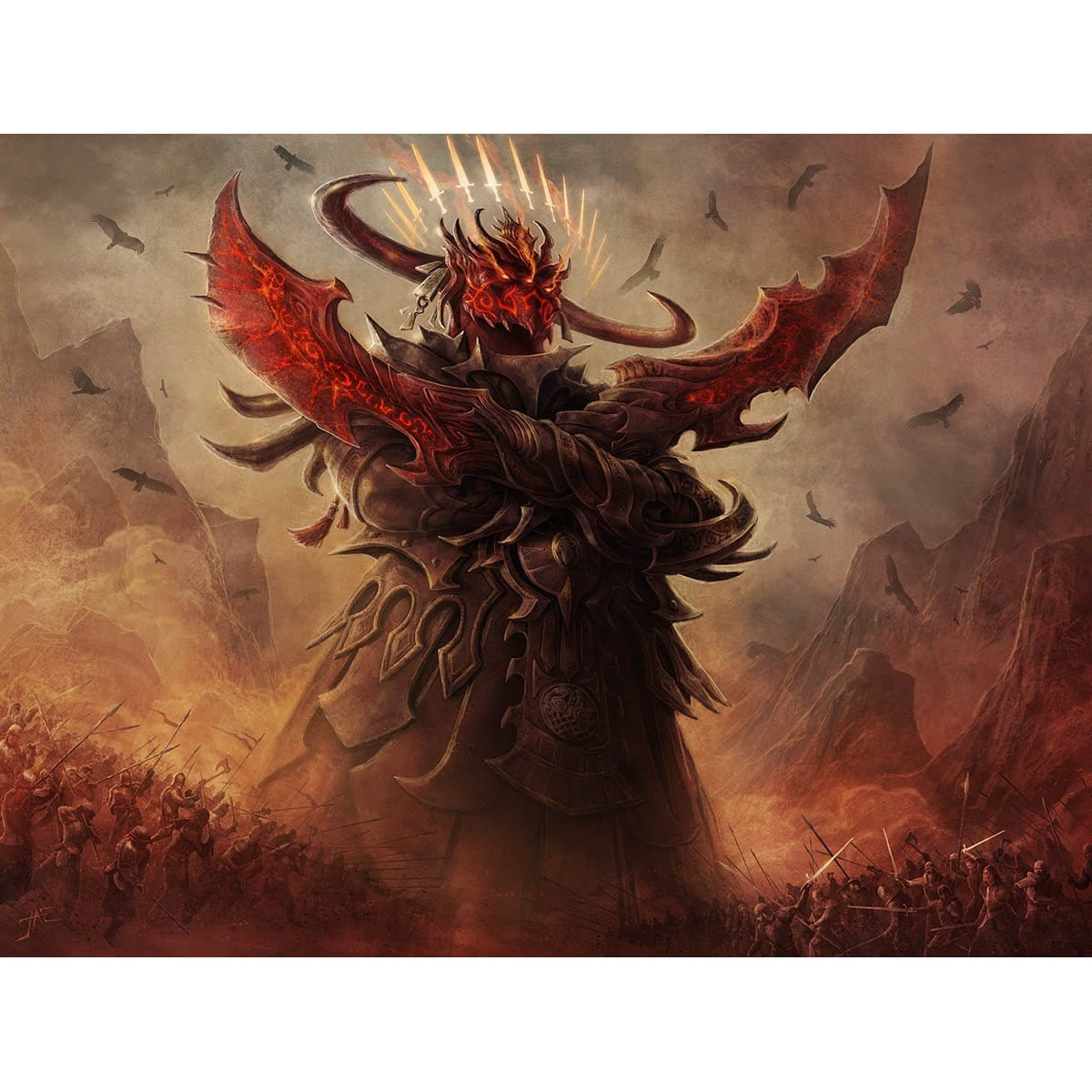 Avatar of Slaughter Print - Print - Original Magic Art - Accessories for Magic the Gathering and other card games