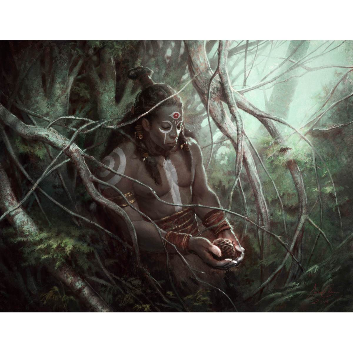 Awakener Druid Print - Print - Original Magic Art - Accessories for Magic the Gathering and other card games