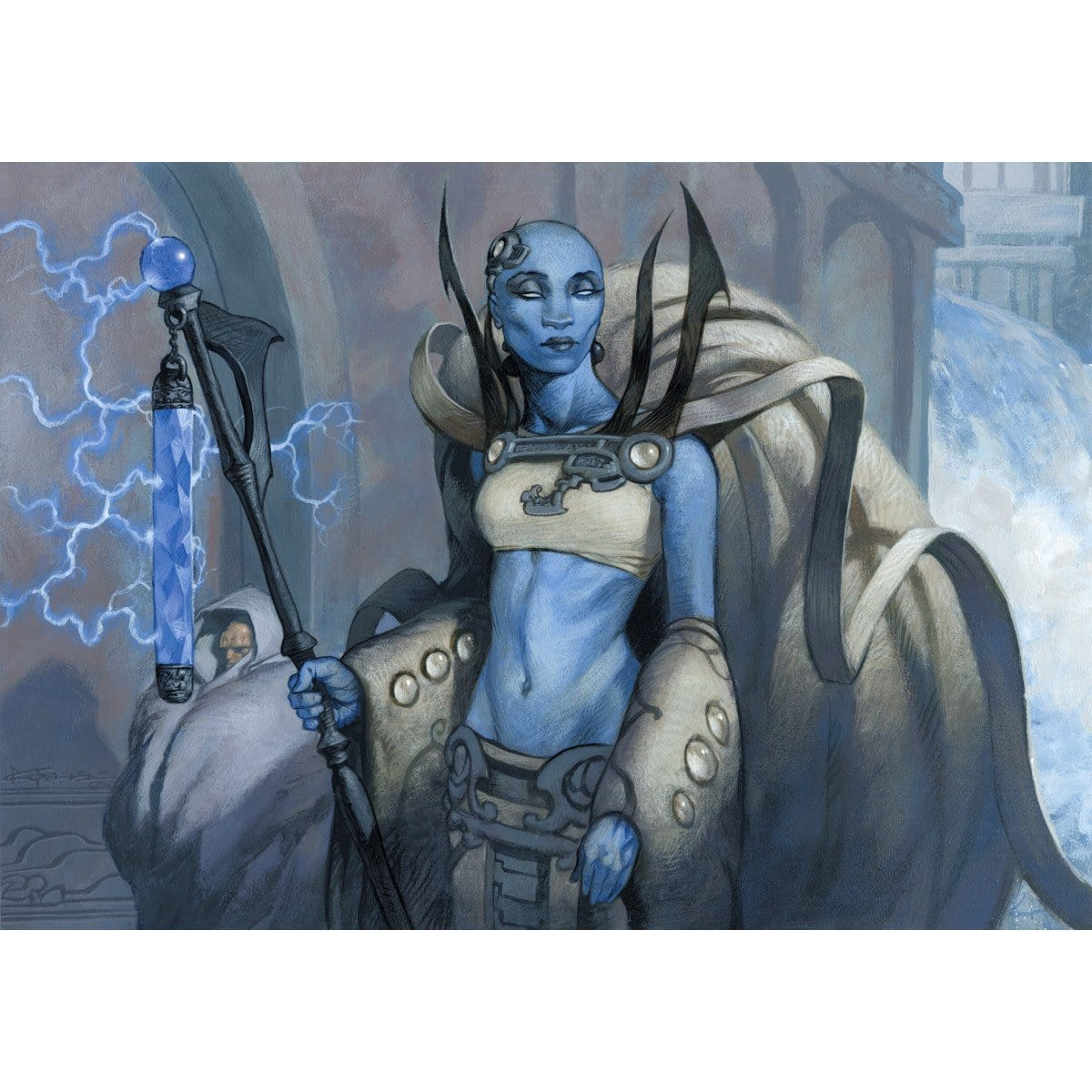 Azorius Guildmage Print - Print - Original Magic Art - Accessories for Magic the Gathering and other card games