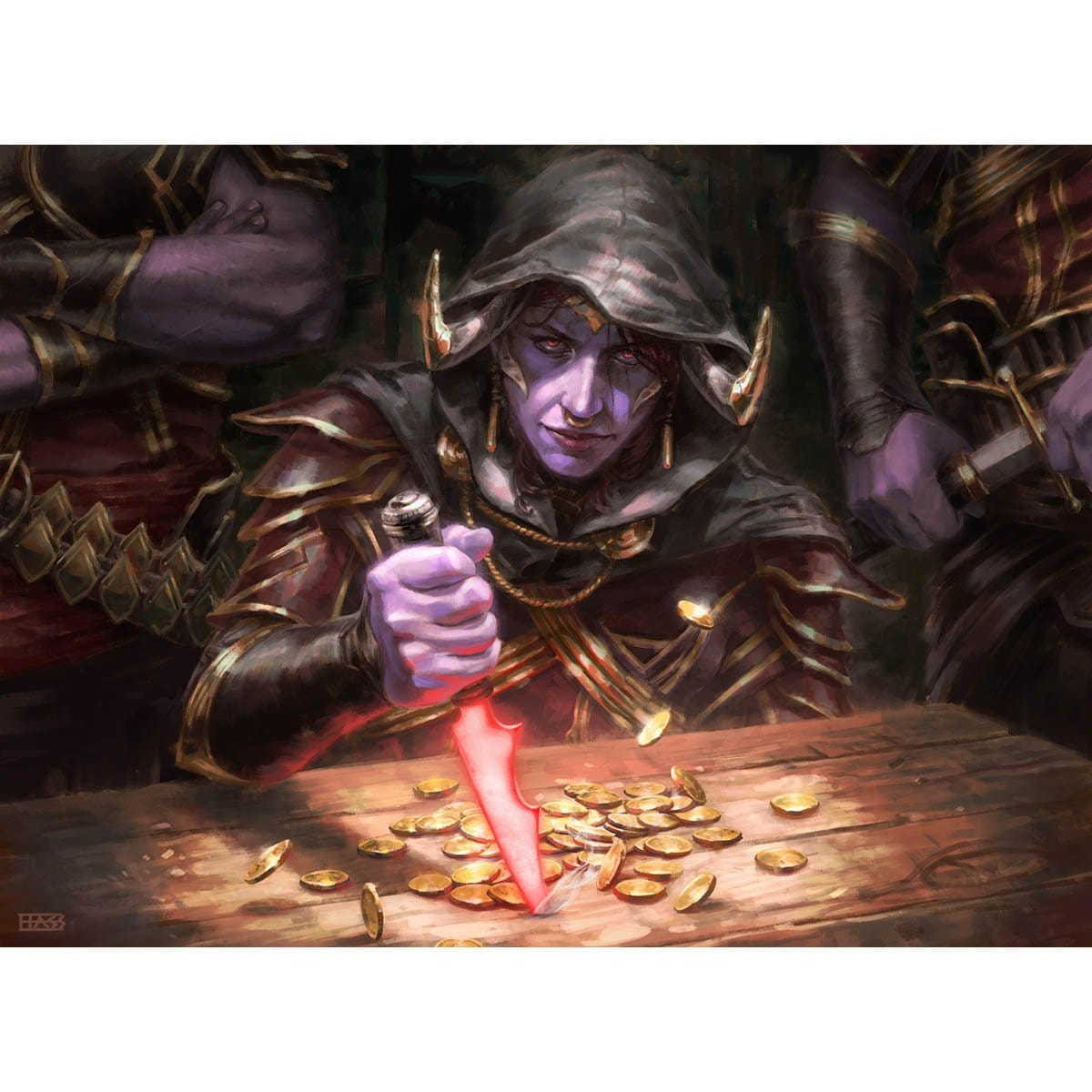 Azra Oddsmaker Print - Print - Original Magic Art - Accessories for Magic the Gathering and other card games