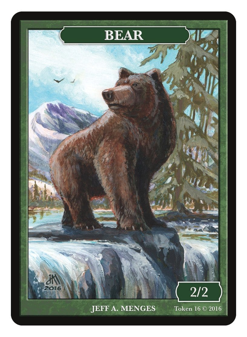 Bear Token (2/2) by Jeff A. Menges - Token - Original Magic Art - Accessories for Magic the Gathering and other card games