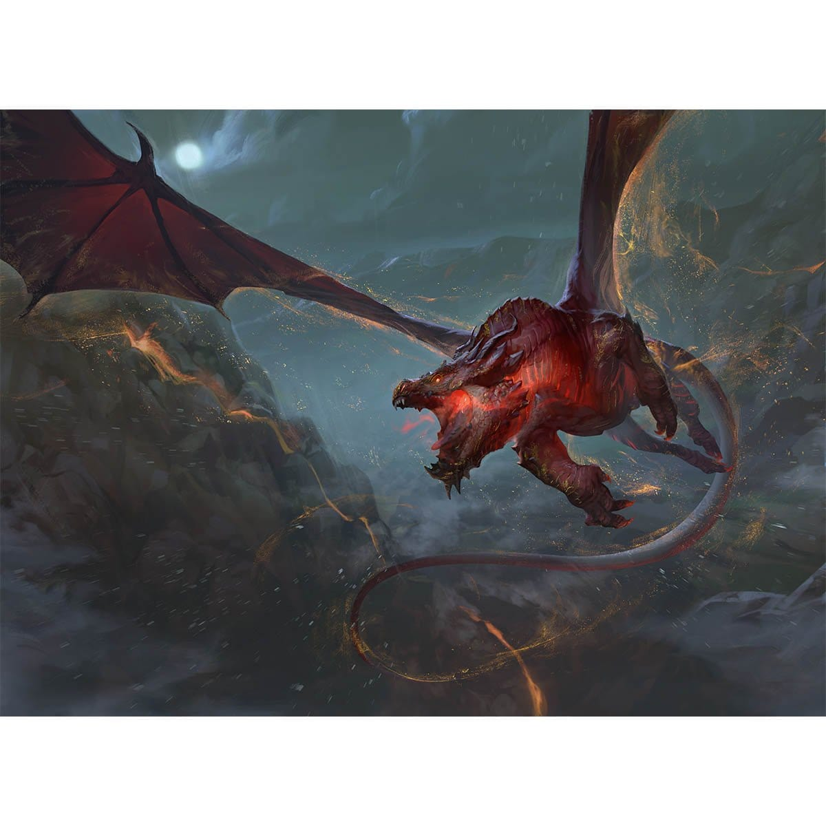 Backdraft Hellkite Print - Print - Original Magic Art - Accessories for Magic the Gathering and other card games