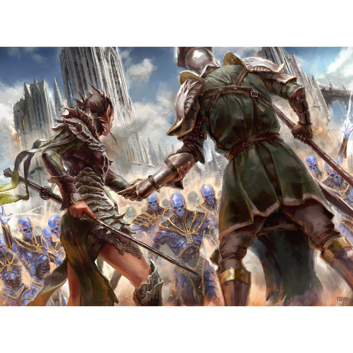 Band Together Print - Print - Original Magic Art - Accessories for Magic the Gathering and other card games