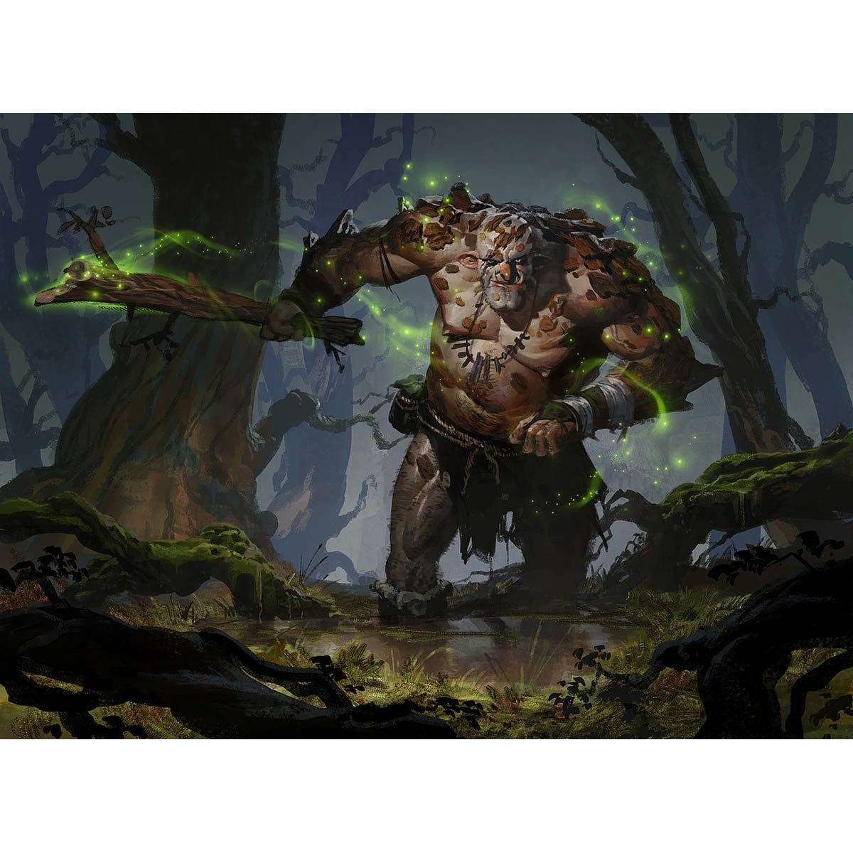 Barkhide Troll Print - Print - Original Magic Art - Accessories for Magic the Gathering and other card games
