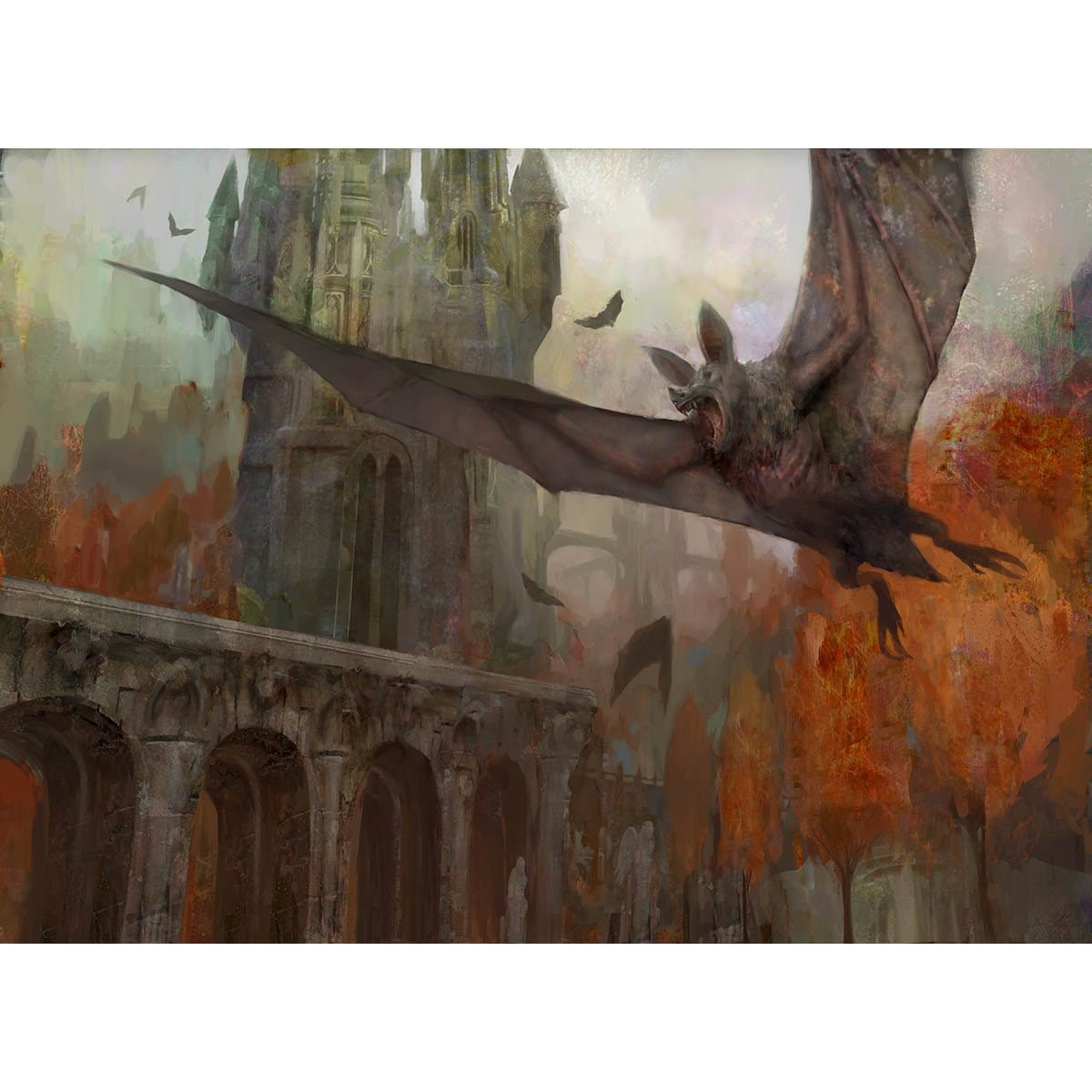 Bartizan Bats Print - Print - Original Magic Art - Accessories for Magic the Gathering and other card games