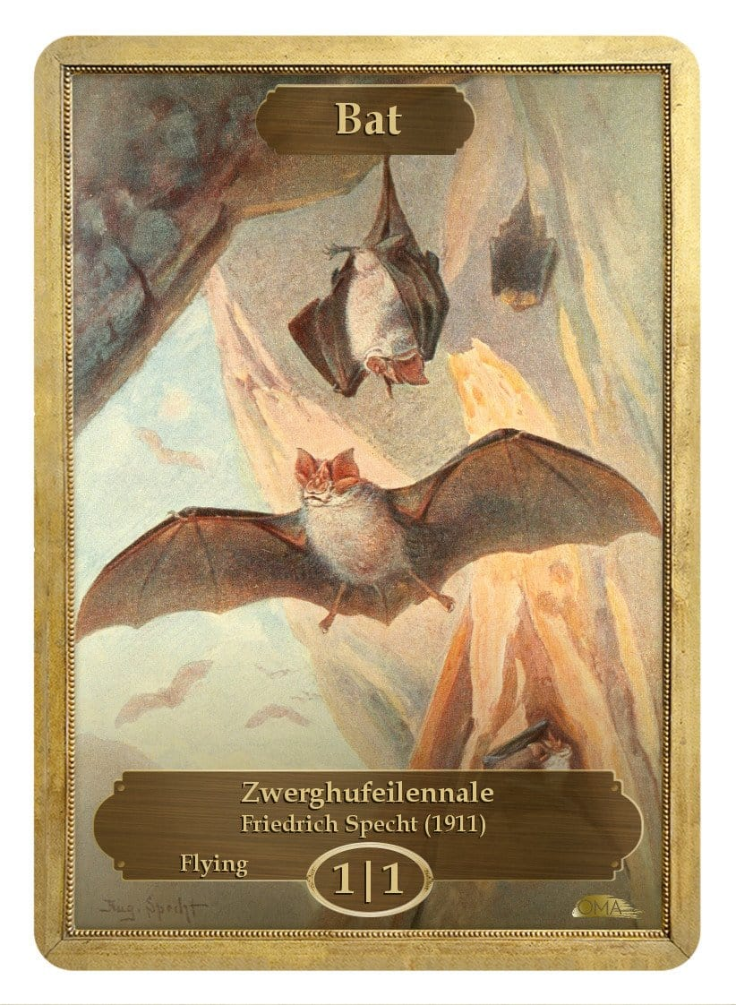 Bat Token (1/1) by Friedrich Specht - Token - Original Magic Art - Accessories for Magic the Gathering and other card games
