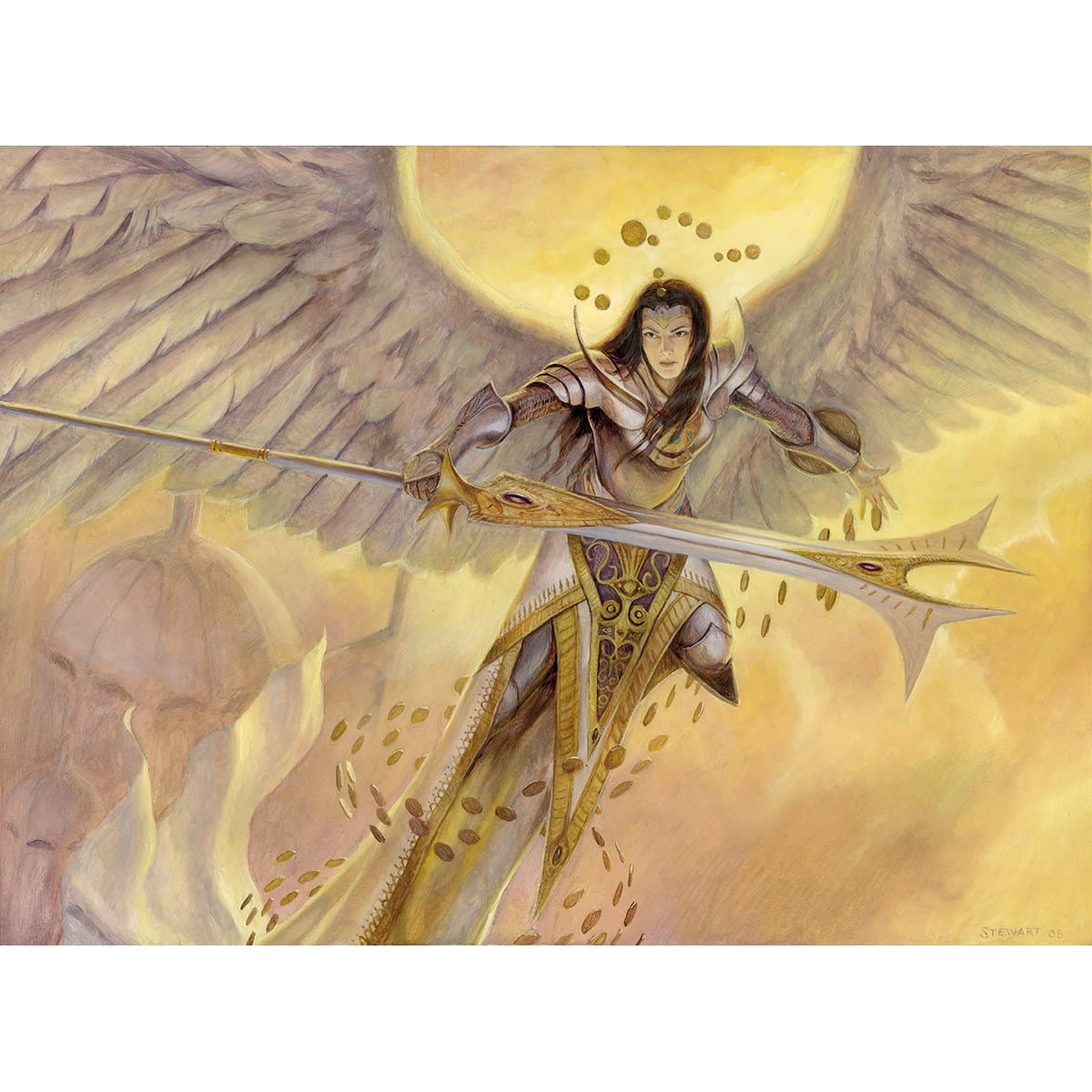 Battlegrace Angel Print - Print - Original Magic Art - Accessories for Magic the Gathering and other card games