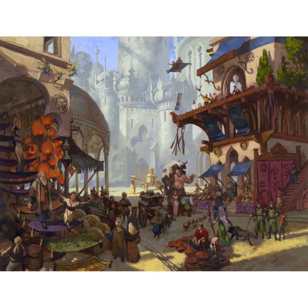 Bazaar of Baghdad Print - Print - Original Magic Art - Accessories for Magic the Gathering and other card games