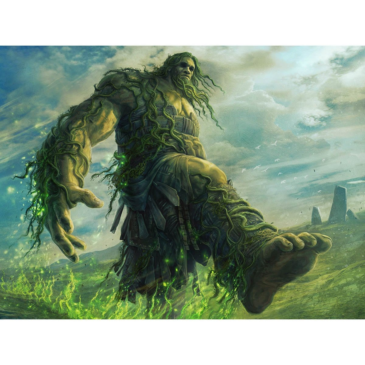 Beanstalk Giant Print - Print - Original Magic Art - Accessories for Magic the Gathering and other card games