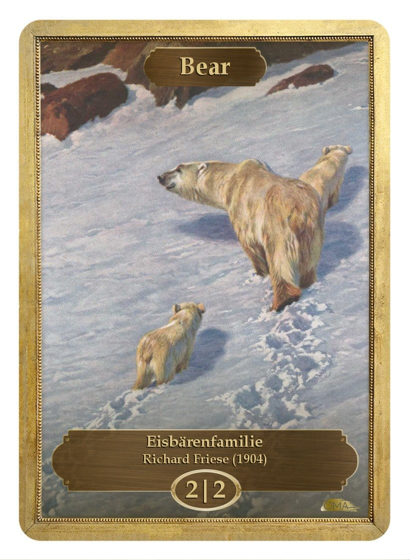 Bear Token (2/2) by Richard Friese - Token - Original Magic Art - Accessories for Magic the Gathering and other card games
