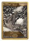 Beast Token (4/2) by Arthur Rackham - Token - Original Magic Art - Accessories for Magic the Gathering and other card games
