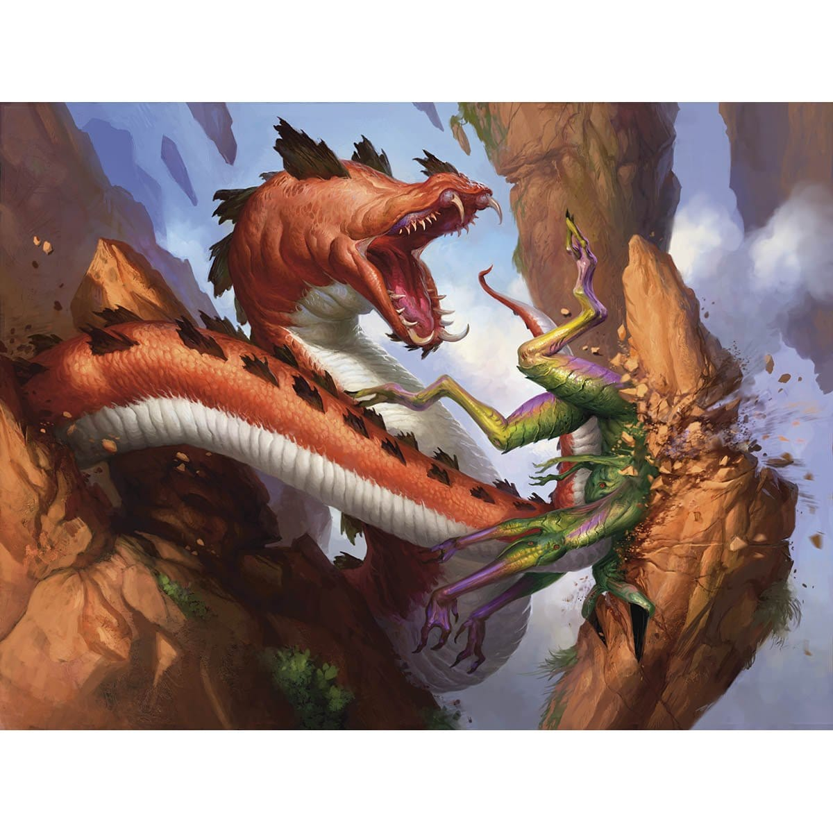 Belligerent Whiptail Print - Print - Original Magic Art - Accessories for Magic the Gathering and other card games