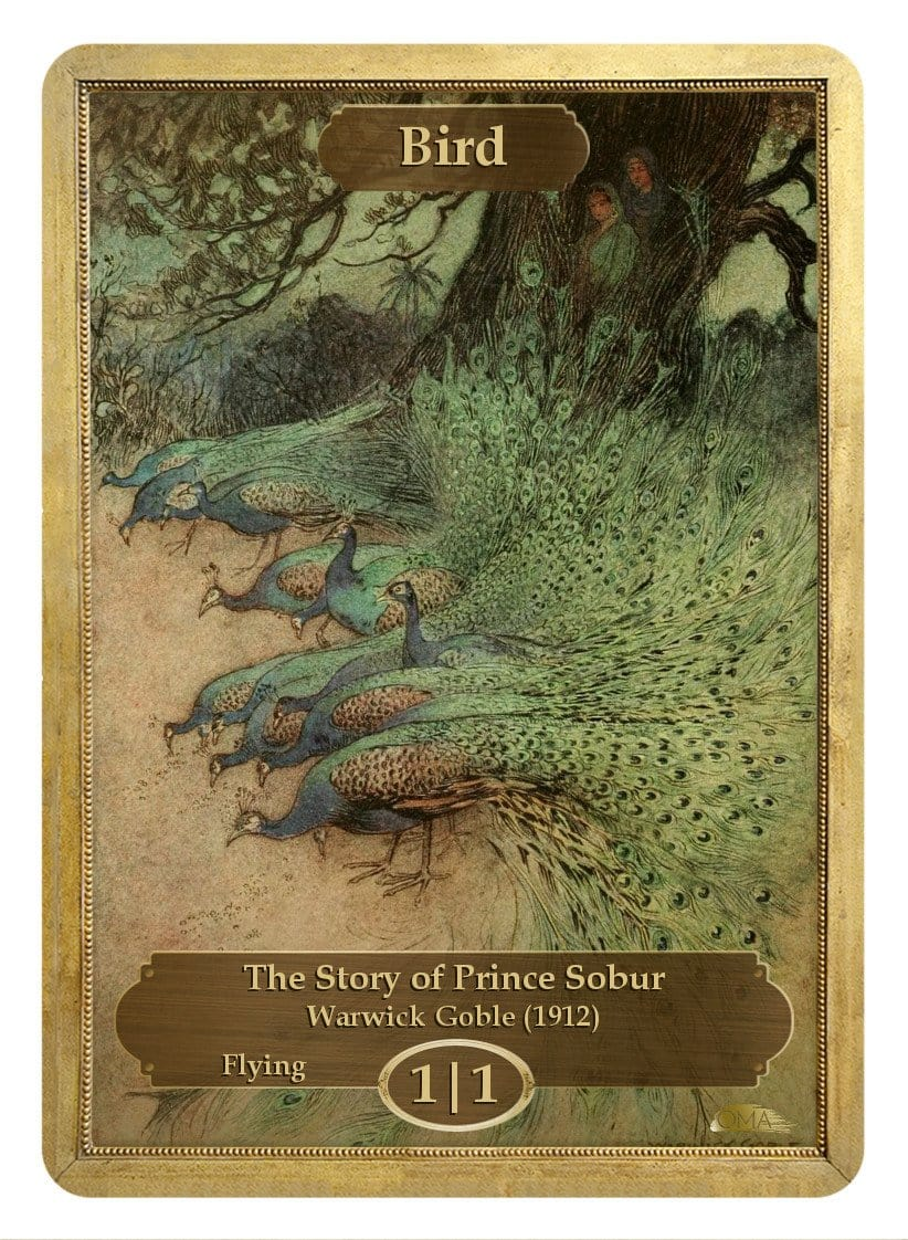 Bird Token (1/1) by Warwick Goble - Token - Original Magic Art - Accessories for Magic the Gathering and other card games