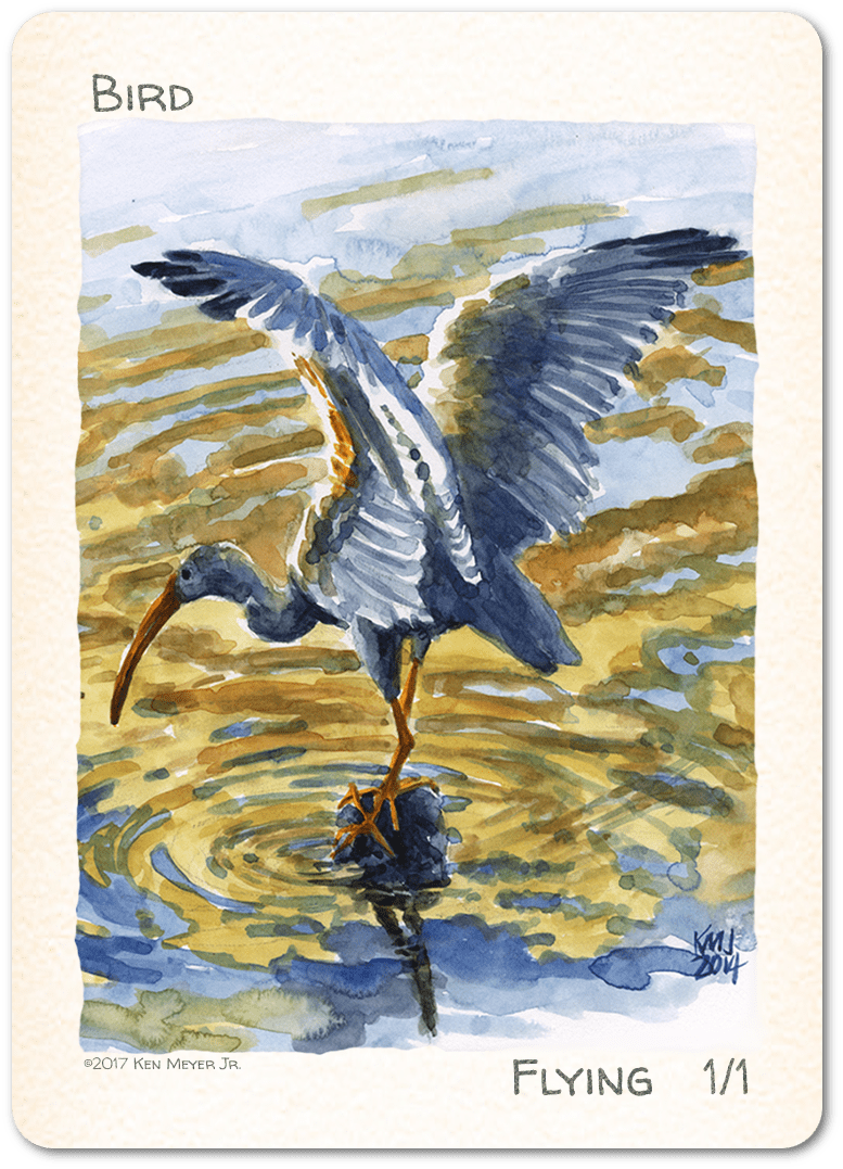 Bird Token (1/1) by Ken Meyer Jr. - Token - Original Magic Art - Accessories for Magic the Gathering and other card games