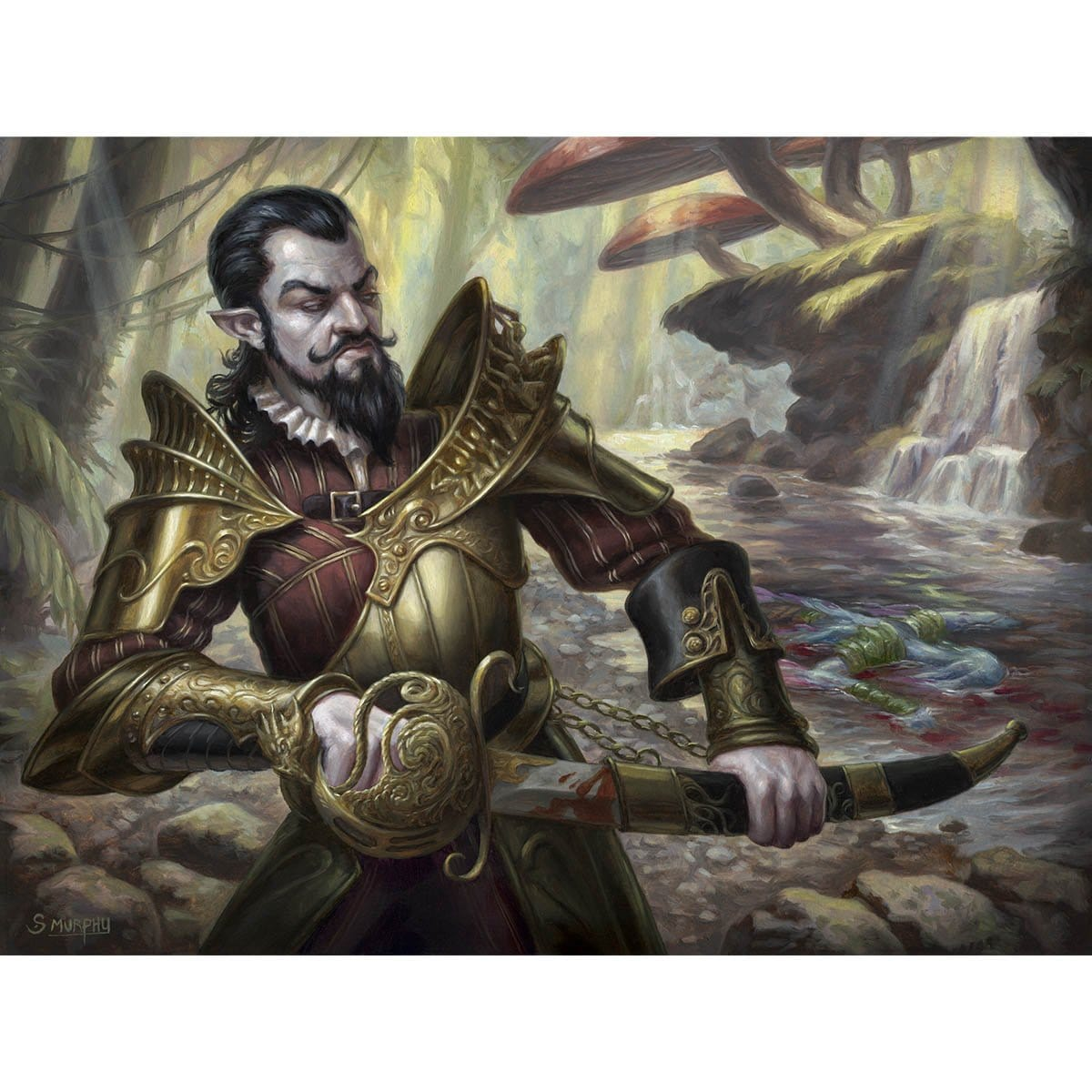 Bishop's Soldier Print - Print - Original Magic Art - Accessories for Magic the Gathering and other card games