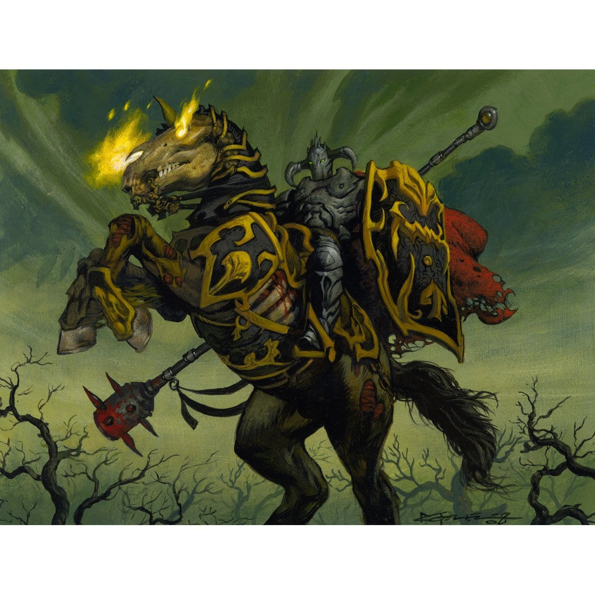Black Knight Print - Print - Original Magic Art - Accessories for Magic the Gathering and other card games