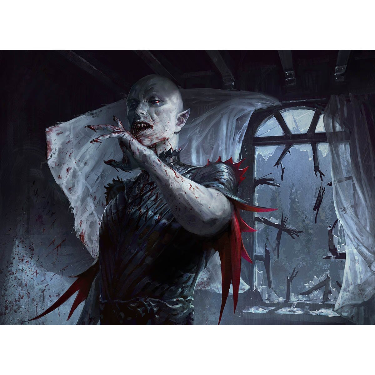 Blood Burglar Print - Print - Original Magic Art - Accessories for Magic the Gathering and other card games