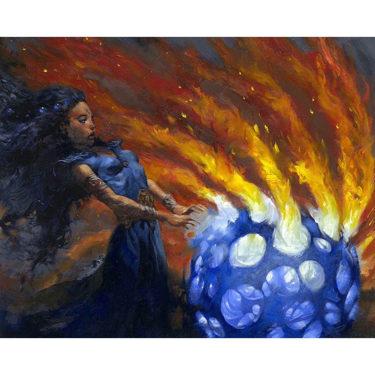 Blue Elemental Blast Print - Print - Original Magic Art - Accessories for Magic the Gathering and other card games
