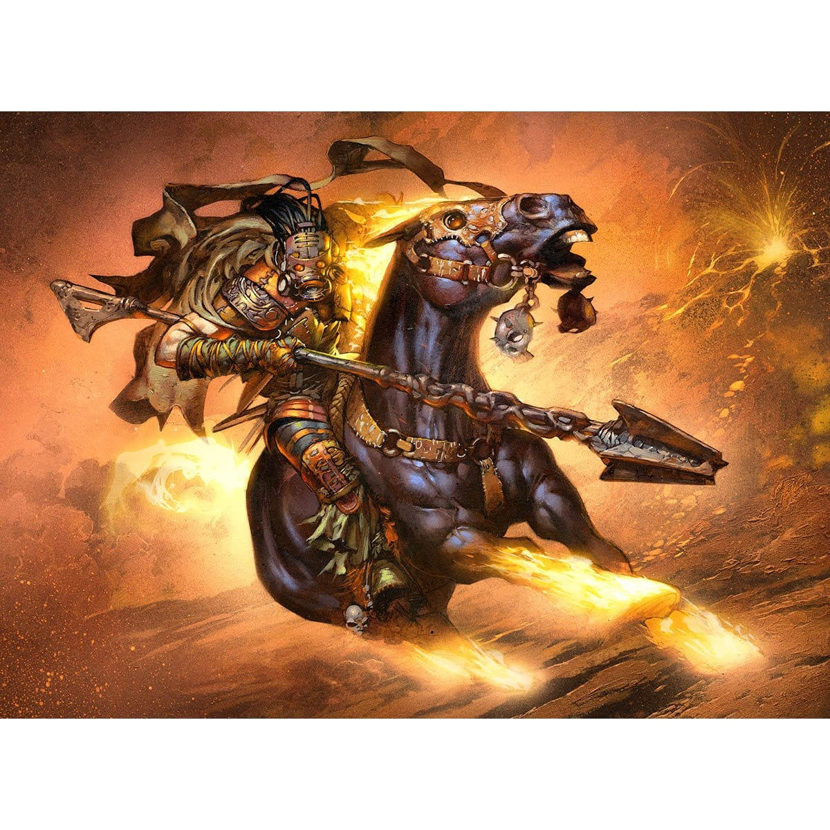 Bogardan Lancer Print - Print - Original Magic Art - Accessories for Magic the Gathering and other card games