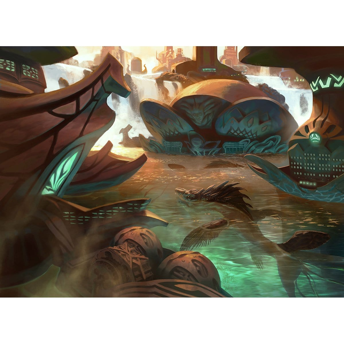 Breeding Pool Print - Print - Original Magic Art - Accessories for Magic the Gathering and other card games