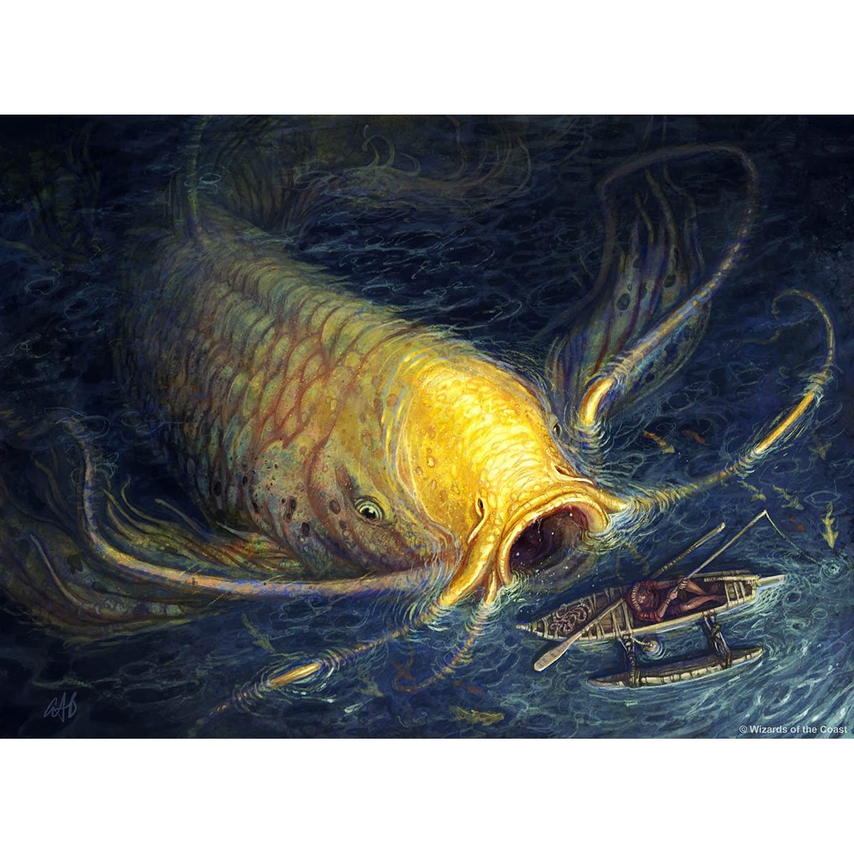 Ancient Carp Print - Print - Original Magic Art - Accessories for Magic the Gathering and other card games