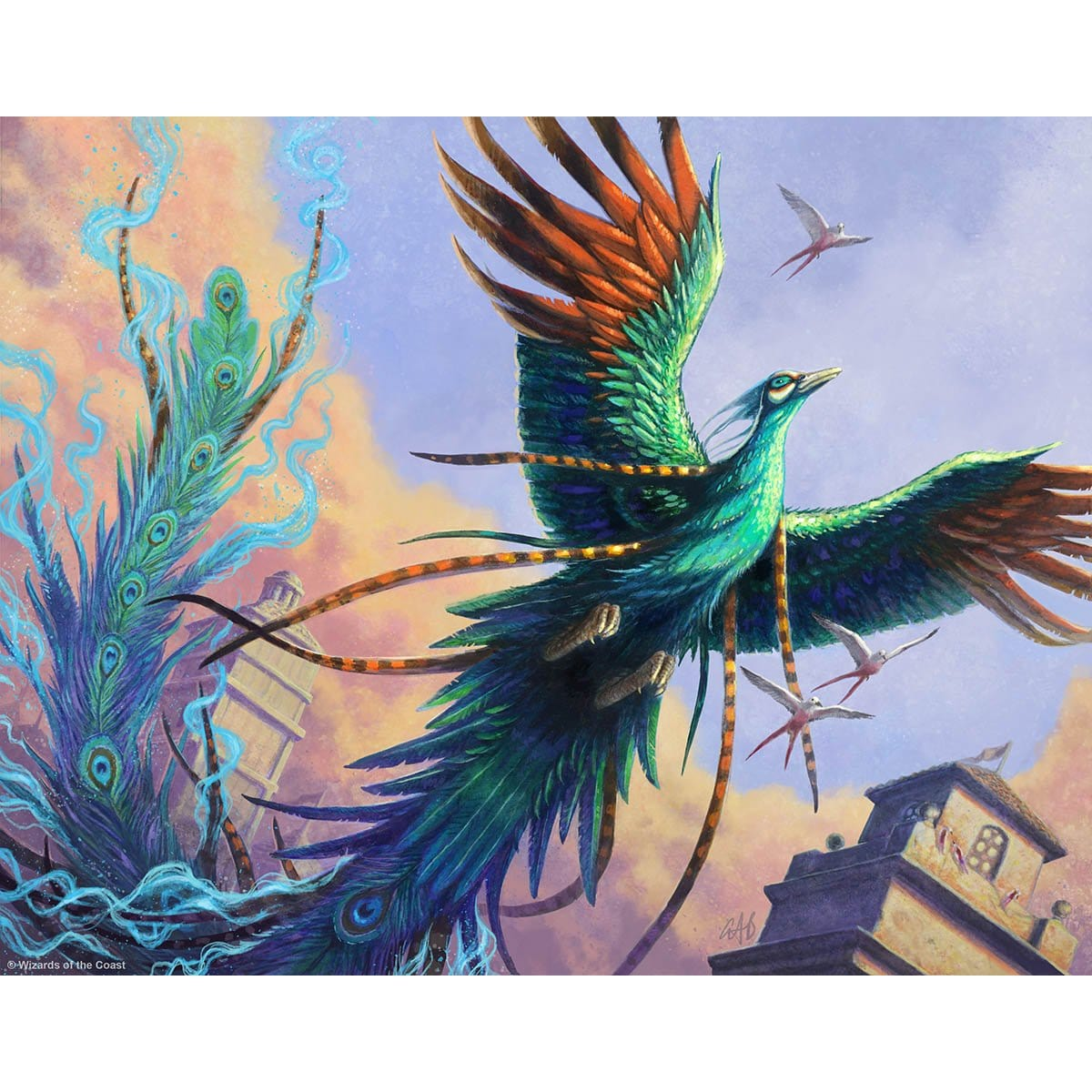 Coveted Peacock Print - Print - Original Magic Art - Accessories for Magic the Gathering and other card games
