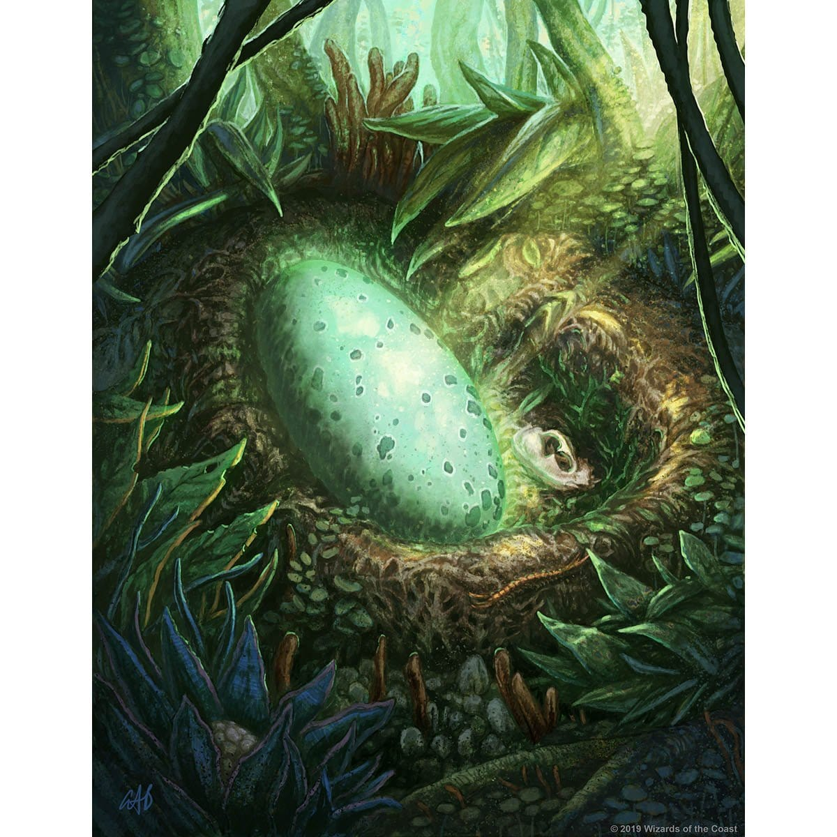 Egg Token Print - Print - Original Magic Art - Accessories for Magic the Gathering and other card games