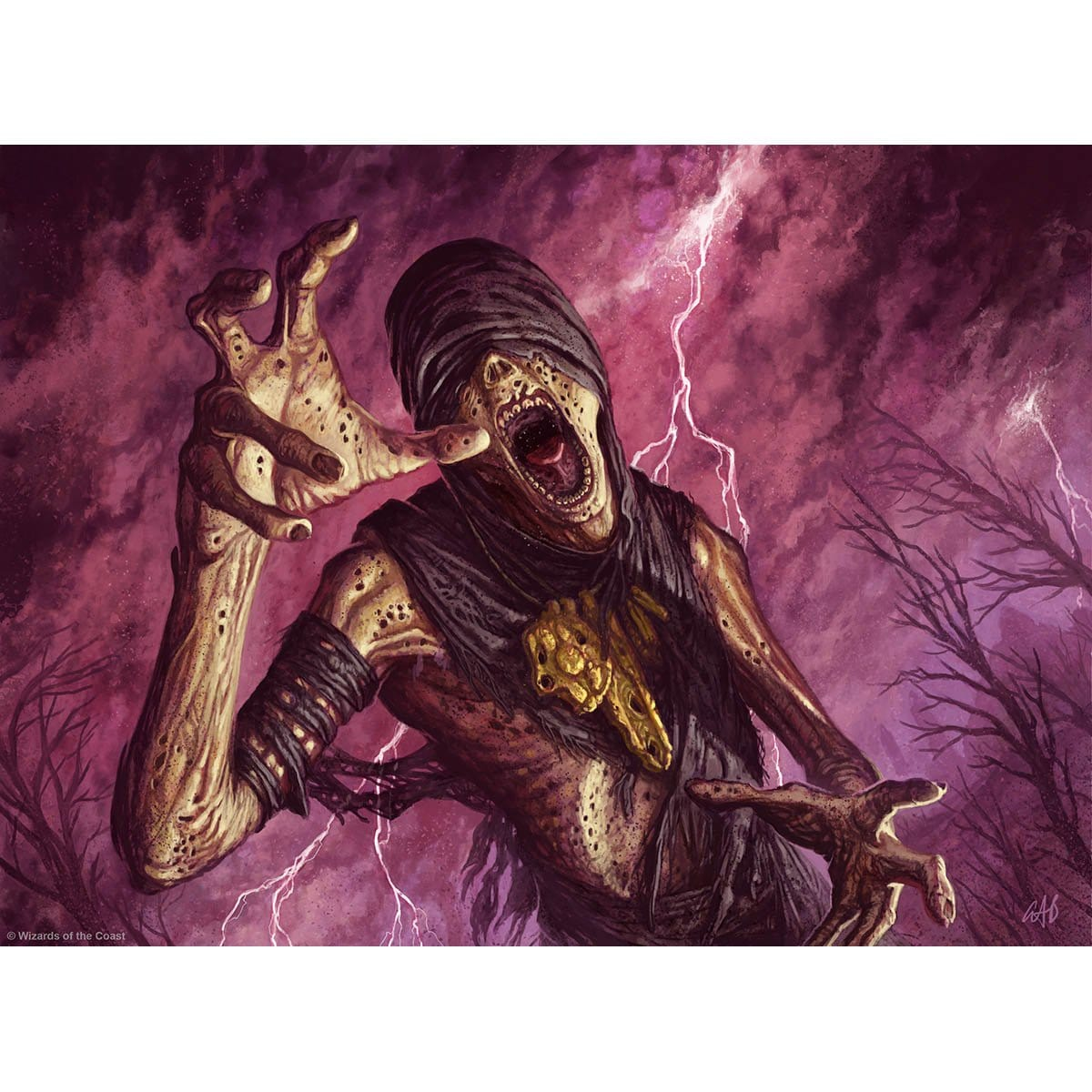 Festering Mummy Print - Print - Original Magic Art - Accessories for Magic the Gathering and other card games