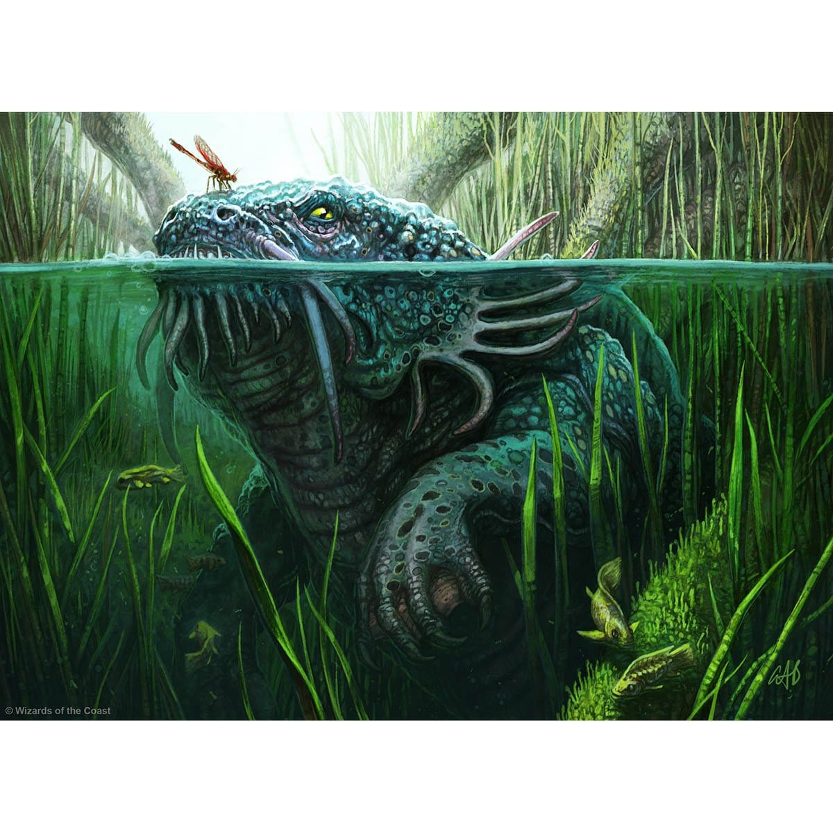Gudul Lurker Print - Print - Original Magic Art - Accessories for Magic the Gathering and other card games