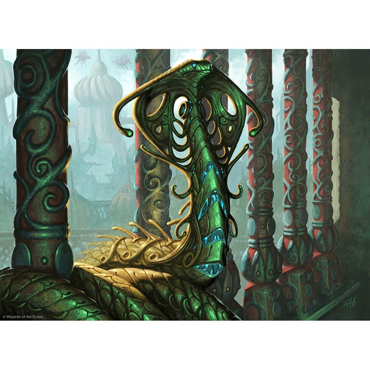 Narnam Cobra Print - Print - Original Magic Art - Accessories for Magic the Gathering and other card games