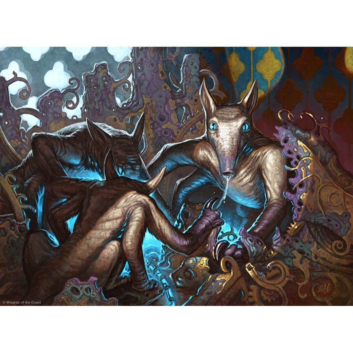 Salivating Gremlins Print - Print - Original Magic Art - Accessories for Magic the Gathering and other card games