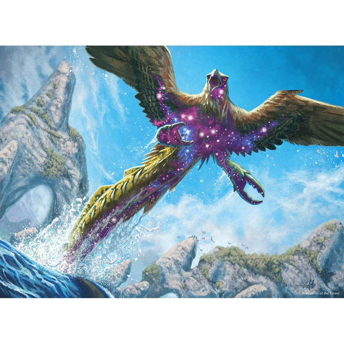 Shimmerwing Chimera Print - Print - Original Magic Art - Accessories for Magic the Gathering and other card games