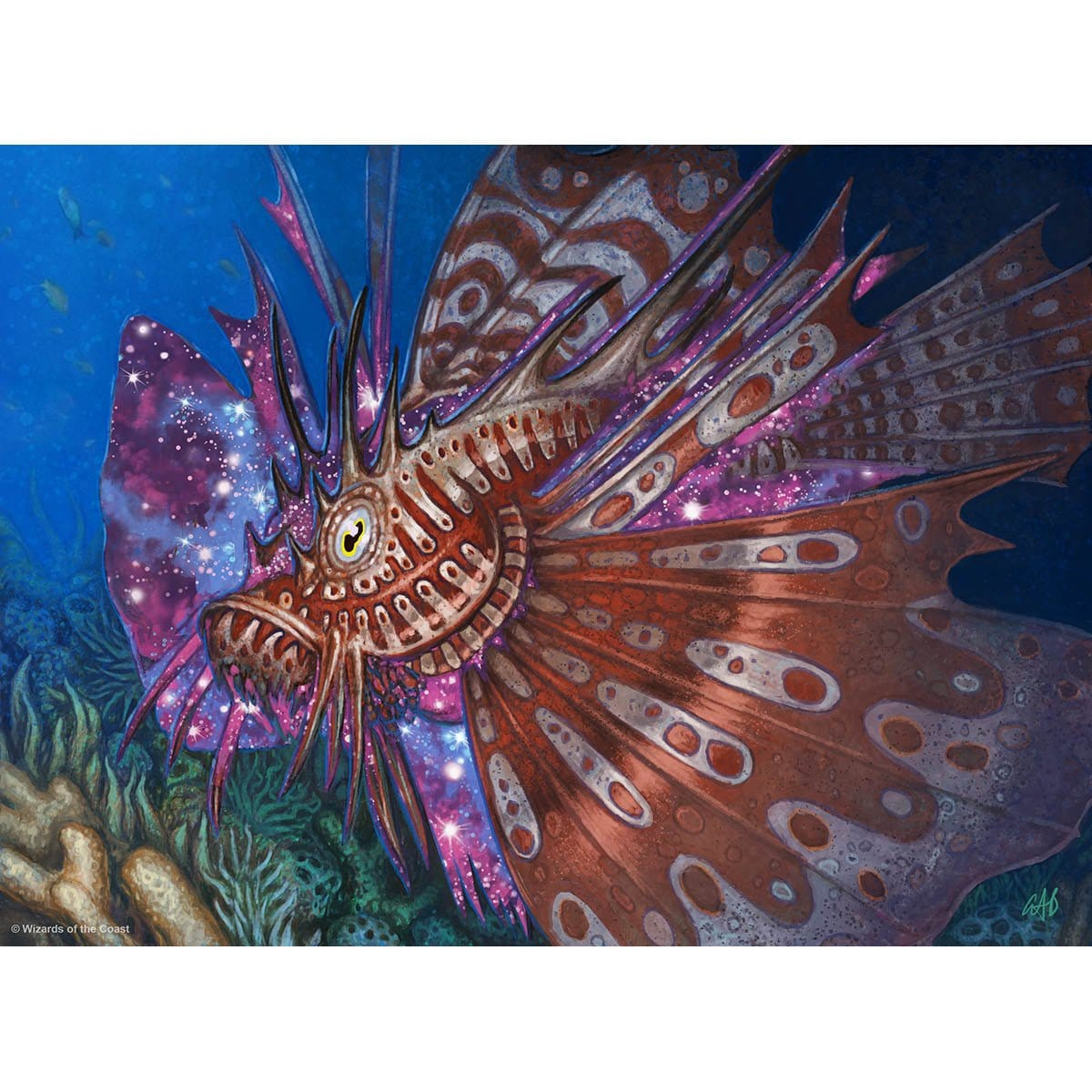 Stinging Lionfish Print - Print - Original Magic Art - Accessories for Magic the Gathering and other card games