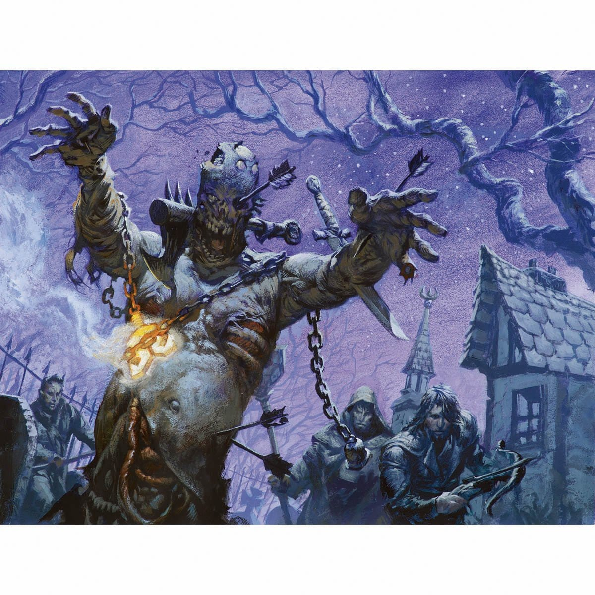 Butcher Ghoul Print - Print - Original Magic Art - Accessories for Magic the Gathering and other card games