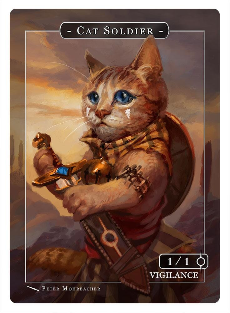 Cat Soldier Token (1-1 - Vigilance) by Peter Mohrbacher