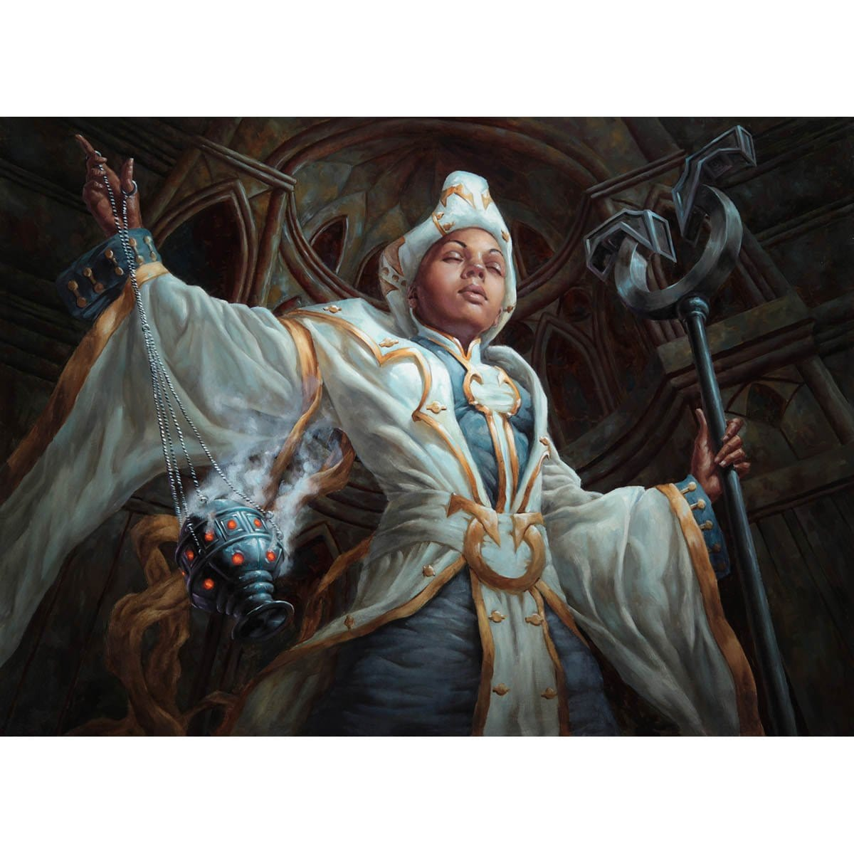 Cathedral Sanctifier Print - Print - Original Magic Art - Accessories for Magic the Gathering and other card games