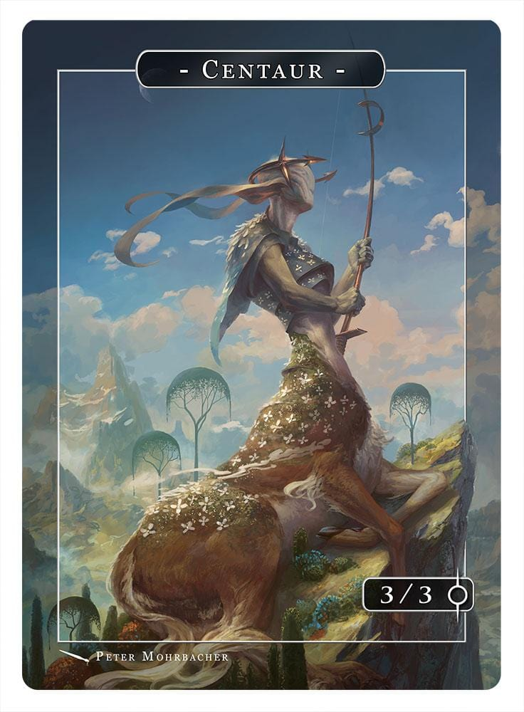 Centaur Token (3/3) by Peter Mohrbacher