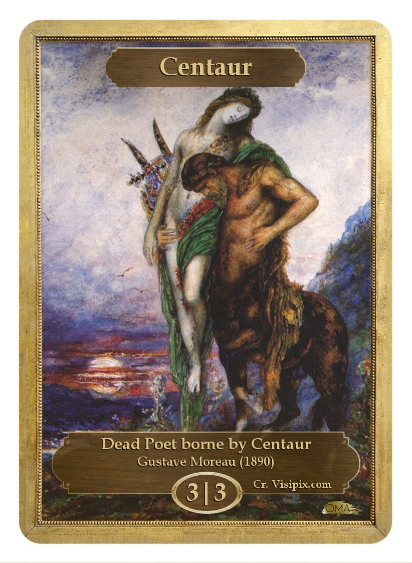 Centaur Token (3/3) by Gustave Moreau - Token - Original Magic Art - Accessories for Magic the Gathering and other card games