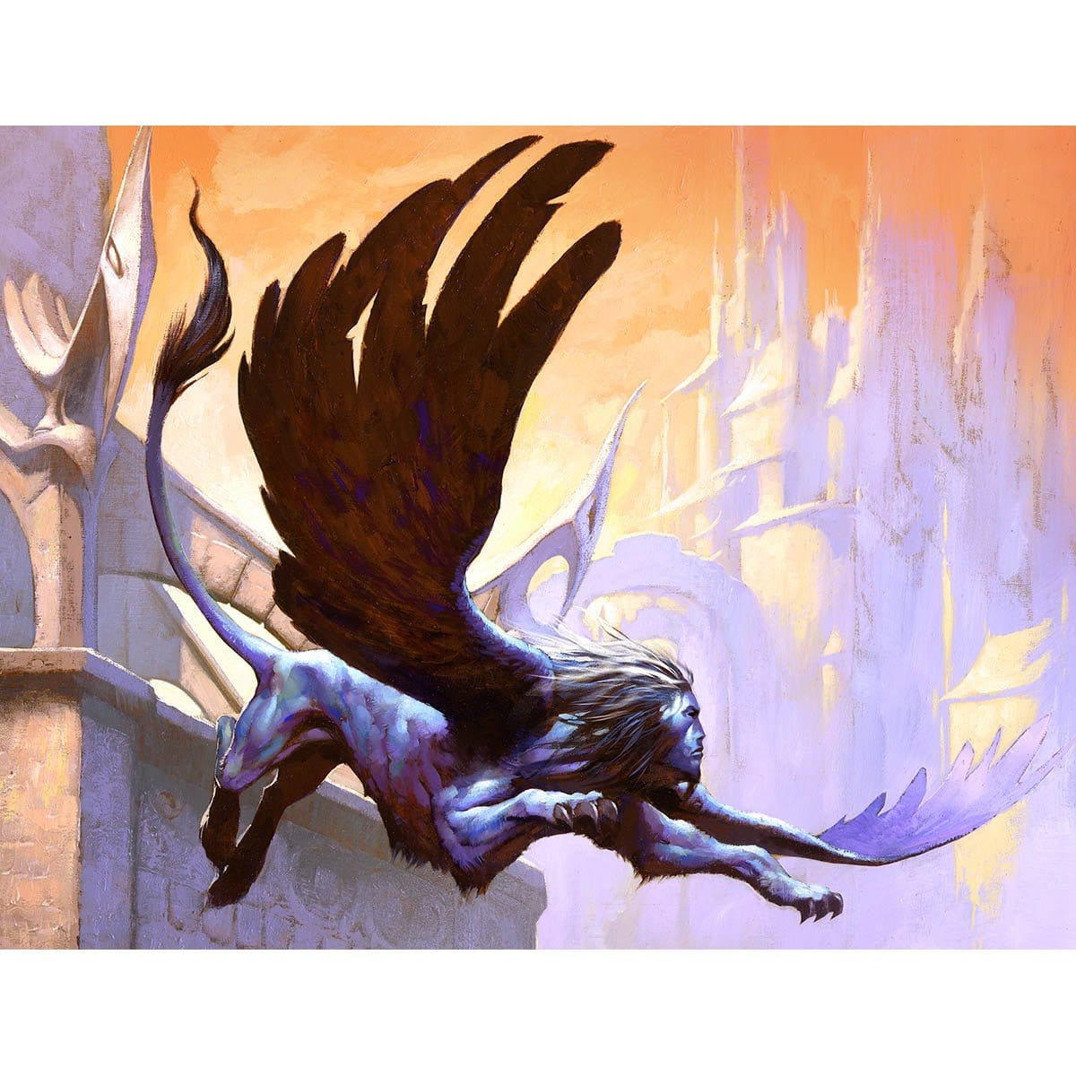 Cerulean Sphinx Print - Print - Original Magic Art - Accessories for Magic the Gathering and other card games