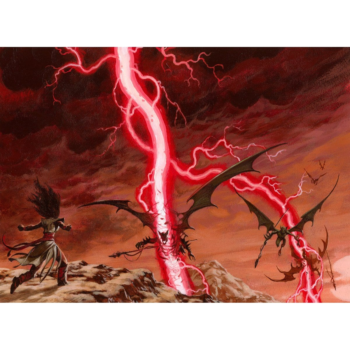 Chain Lightning Print - Print - Original Magic Art - Accessories for Magic the Gathering and other card games