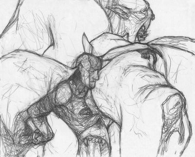 Chameleon Blur Underdrawing - Sketch - Original Magic Art - Accessories for Magic the Gathering and other card games