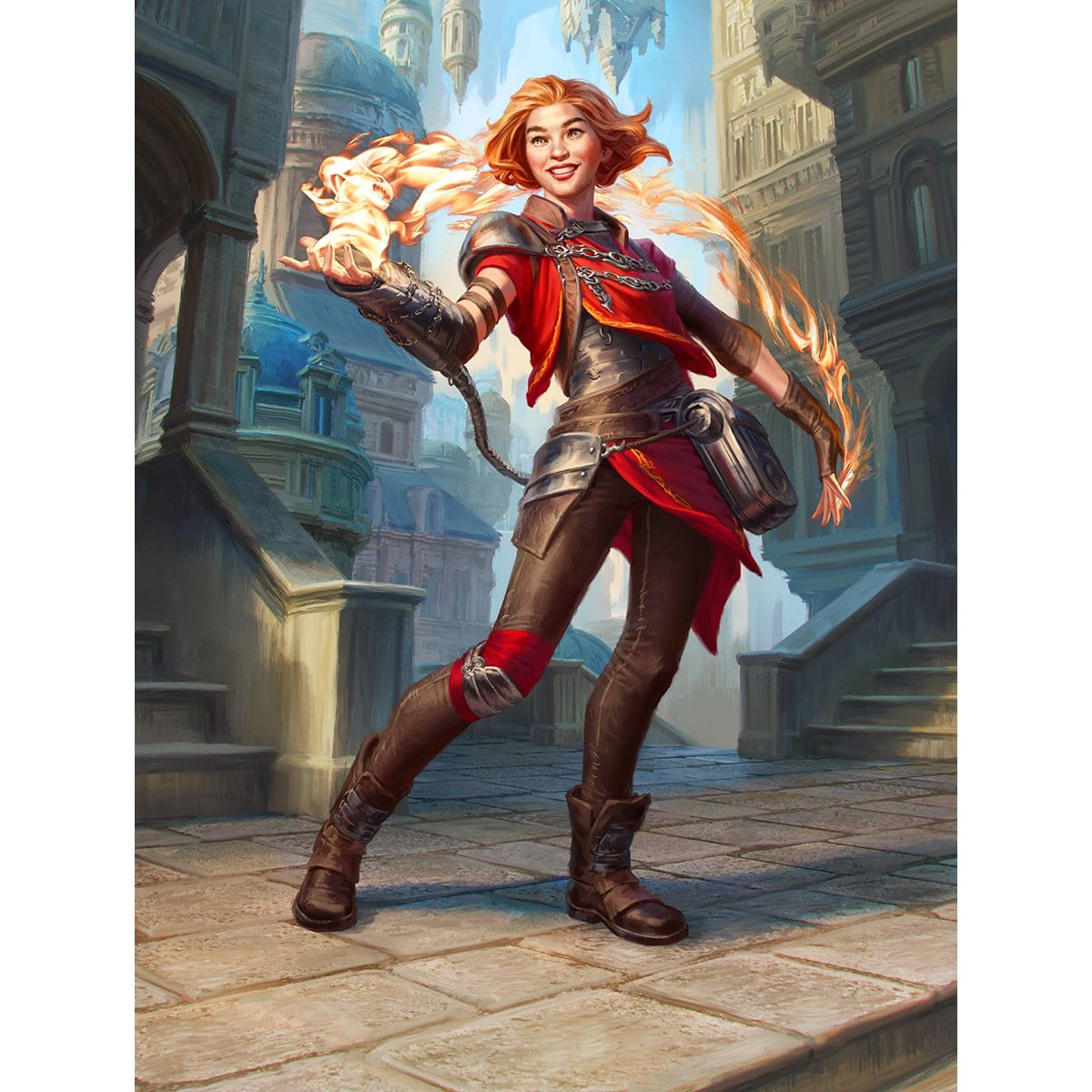 Chandra, Novice Pyromancer Print - Print - Original Magic Art - Accessories for Magic the Gathering and other card games