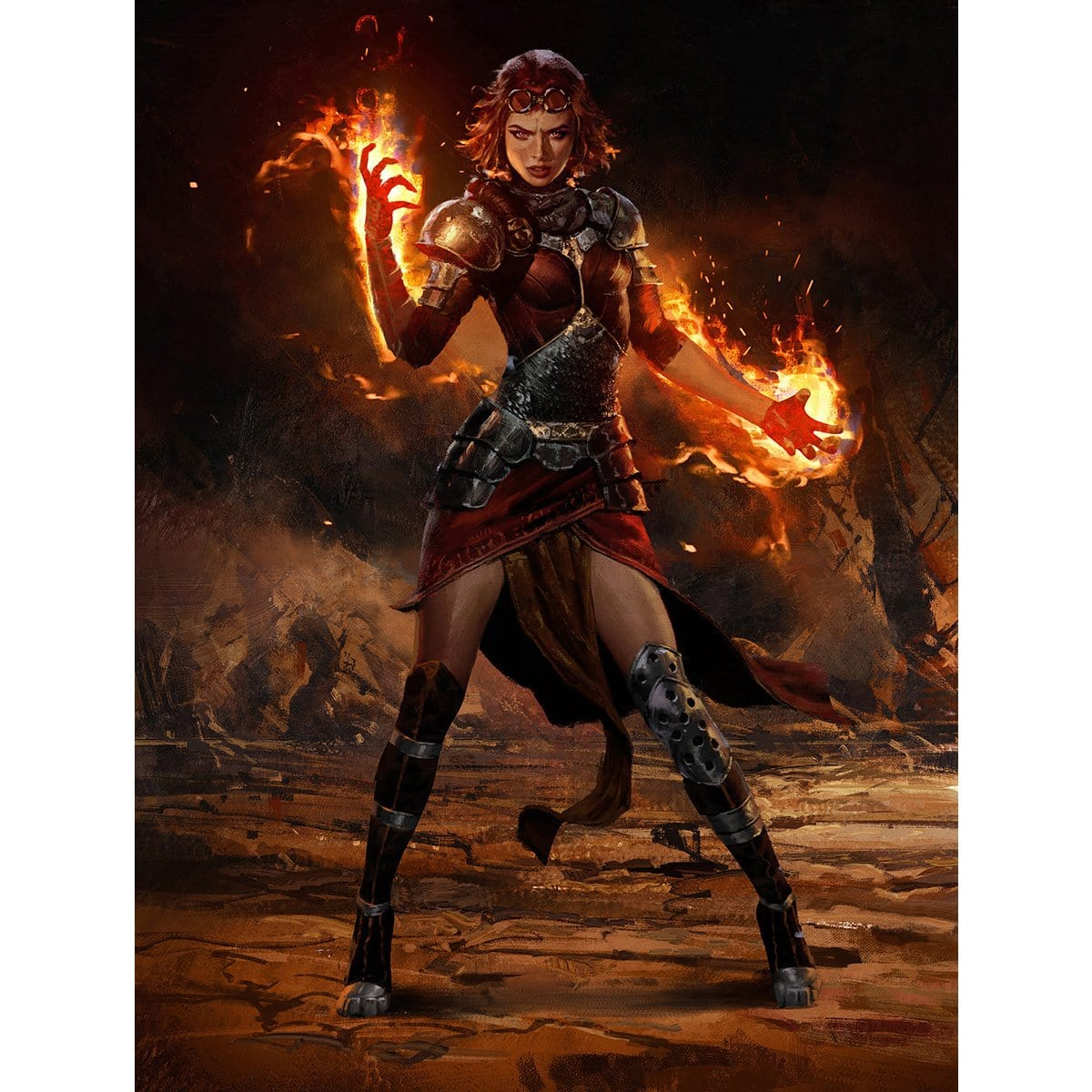 Chandra, Flame's Catalyst Print