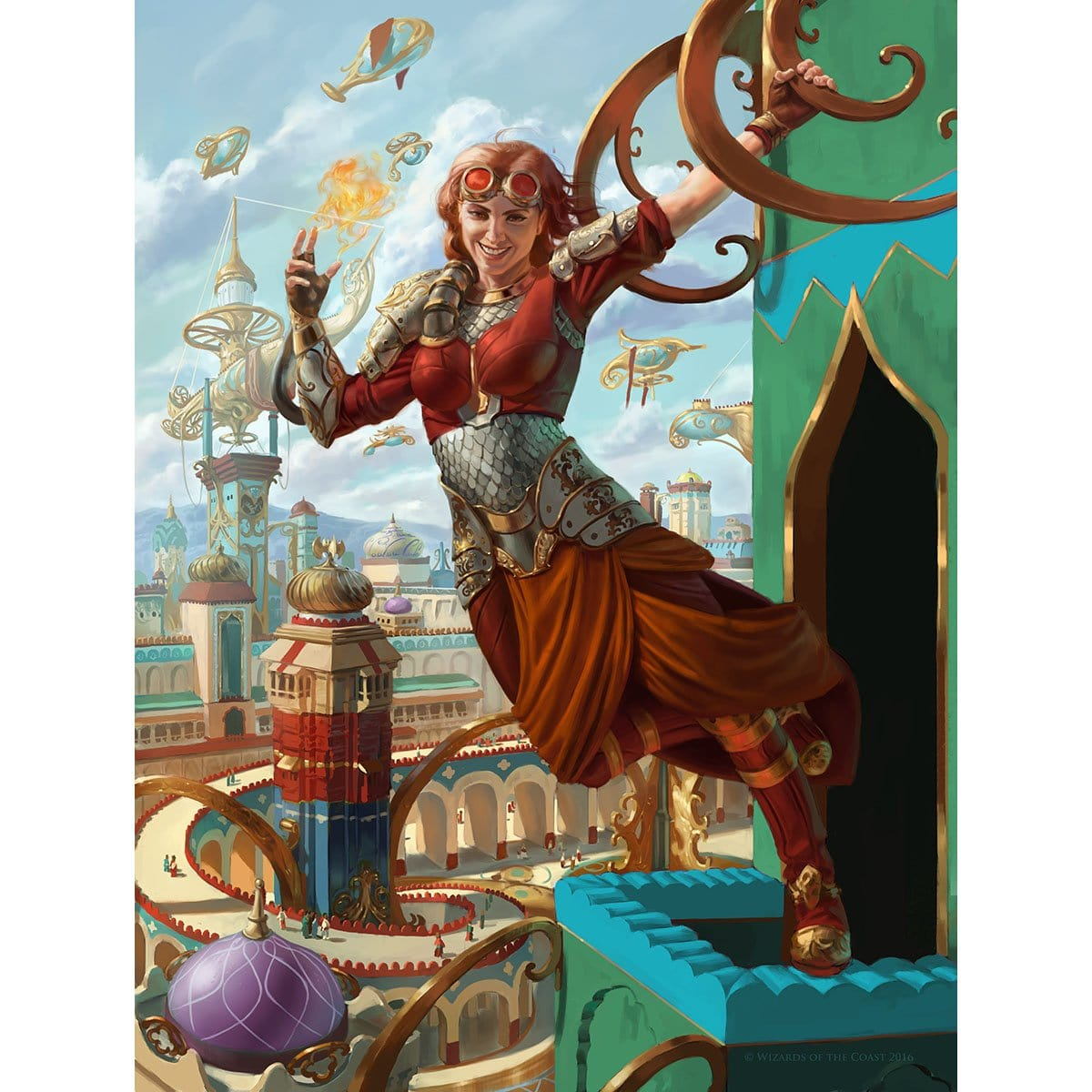 Chandra, Pyrogenius Print - Print - Original Magic Art - Accessories for Magic the Gathering and other card games