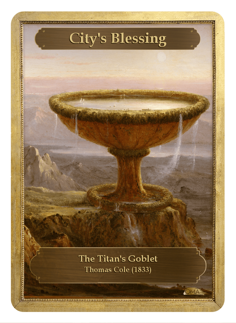 City's Blessing Counter by Thomas Cole - Token - Original Magic Art - Accessories for Magic the Gathering and other card games